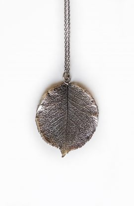 pear leaf necklace